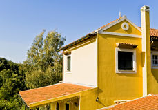 Country house in Greece. Country house at Corfu island in Greece Royalty Free Stock Image