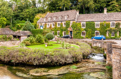 Country house hotel in the Cotswold village of Bibury. England Royalty Free Stock Image