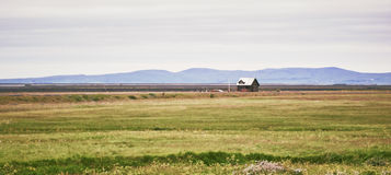 Country house in Iceland Stock Images
