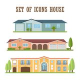 Country house icon. Flat style. Vector illustration vector illustration