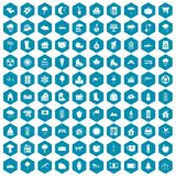 100 country house icons sapphirine violet. 100 country house icons set in sapphirine hexagon isolated vector illustration stock illustration