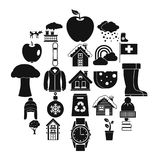 Country house icons set, simple style. Country house icons set. Simple set of 25 country house vector icons for web isolated on white background royalty free illustration