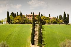 Country House In Tuscany Stock Photos