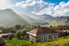 A country house in Kazbegi - Georgia. A country house in a village Kazbegi region, Georgia Royalty Free Stock Image