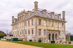 The country house of Kingston Lacy in  Dorset. Corner view of the country house of Kingston Lacy in  Dorset, England Royalty Free Stock Photos