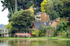 Country House at the lake Stock Image
