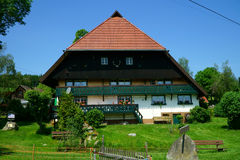 Country house on a large farm in the Black Forest Royalty Free Stock Photography