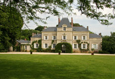 Country house. Large country house with lawn Royalty Free Stock Photos