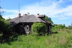 Country house. Lonely country house in Moscow region royalty free stock images