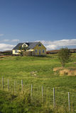 Country house Myvatn Iceland scandinavia. Isolated island countryside colourful bright quaint typical architecture building view tourism holidays vacations Stock Photos