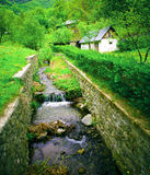 Country house in nature. European country house in nature Stock Image
