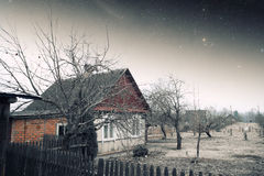 Country house at night. Stock Photo