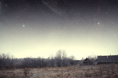 Country house at night. Stock Image