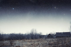 Country house at night. Stock Photos