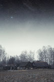 Country house at night. Royalty Free Stock Images
