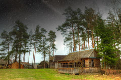 Country house at night. Royalty Free Stock Image