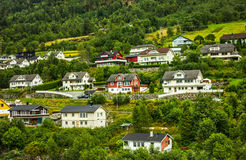 Country houses in Norway Stock Photography