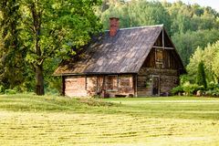 Country house with oak trees Stock Images