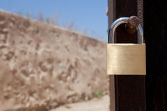 Country house padlock Royalty Free Stock Photos