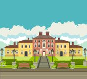 Country house with park Royalty Free Stock Photography