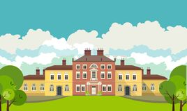 Country house with park Stock Image