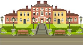 Country house with park Stock Photos