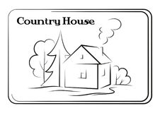 Country House, Pictogram Stock Photos