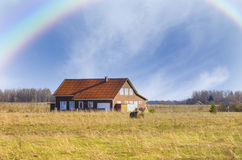 Country house after the rain Stock Photography