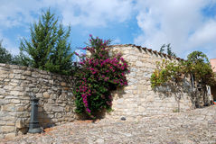 Country house in sardinia. Typical Sardinian country house with walls of sandstone Royalty Free Stock Photography