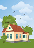 Country house. Small country house among the trees Stock Images