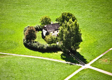 Country house surrounded by trees. In Salzburg Stock Images