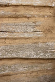 Country house wall from old wooden logs. Natural wooden backgrou Royalty Free Stock Images