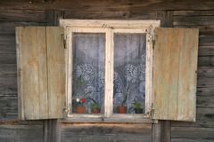 Country house window Royalty Free Stock Photos