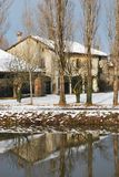Country house in winter Stock Image