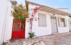 Country houses at Hydra island Greece Stock Image