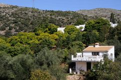 Country houses, Juzcar, Spain. Royalty Free Stock Photo