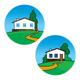 Country houses Stock Image