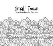 Country houses. Seamless vector border pattern. Village illustration vector illustration