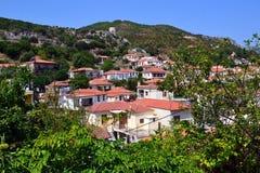 Country houses Kimi village Euboea Greece Royalty Free Stock Photo