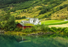 Country houses in Norway Stock Photo