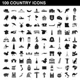 100 country icons set, simple style. 100 country icons set in simple style for any design illustration royalty free illustration