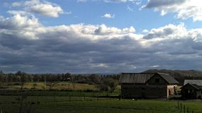 Country idyll. And farm stock photo