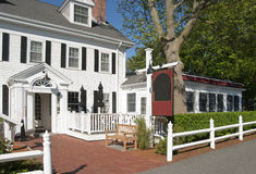 Country Inn and bed and breakfast. Located on old Cape Cod, Massachusetts, USA royalty free stock photos