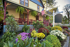Country Inn and bed and breakfast. Located in Bar Harbor, Maine, USA stock photos