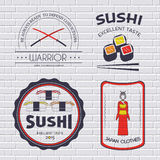 Country Japan label template of emblem element for your product or design, web and mobile applications with text. Vector Stock Photos
