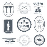 Country Japan label template of emblem element for your product or design, web and mobile applications with text. Vector Stock Photo