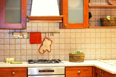 Country kitchen counter Royalty Free Stock Photos
