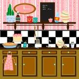 country kitchen retro style Στοκ εικόνες με δικαίωμα ελεύθερης χρήσης