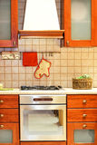 Country kitchen stove Royalty Free Stock Images