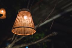 The country lamp. A lamp that working on the outdoor restaurant Royalty Free Stock Image